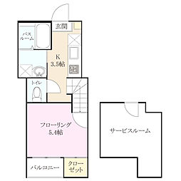 六本松555[1階]の間取り