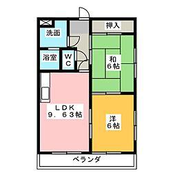インペリアル八事[5階]の間取り