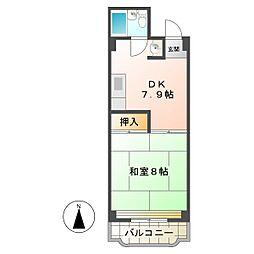 レジデンス和田[2C号室]の間取り