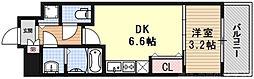 THE GARNET MILLENNIUM KYOTO九条烏丸 3階1DKの間取り