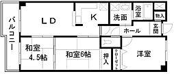 岸和田コーポラス3棟[1014号室]の間取り