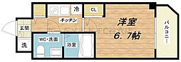 S-RESIDENCE北浜[2階]の間取り
