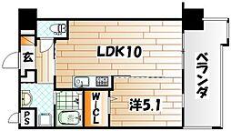 フェリシエ三萩野[5階]の間取り