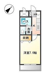 静岡県田方郡函南町間宮の賃貸アパートの間取り
