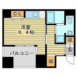 エイペックス東心斎橋I[2階]の間取り