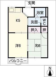 藤フレグランス[1階]の間取り