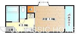 大阪府堺市堺区大町東3丁の賃貸マンションの間取り