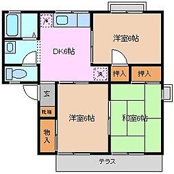 セジュール富田B棟[1階]の間取り