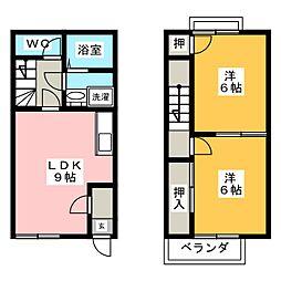 [テラスハウス] 愛知県名古屋市中川区江松3丁目 の賃貸【/】の間取り