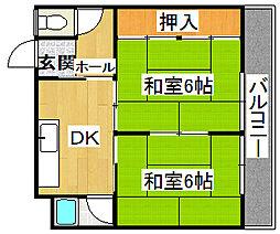 ハイローズマンション1番館[3階]の間取り