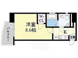 セレニテ日本橋EST 10階1Kの間取り