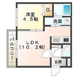 仮)厚別中央1条3丁目MS[1階]の間取り