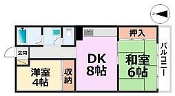 橋本第1マンション[4階]の間取り