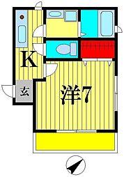 Cerebrare Iwase(セレブラーレイワセ)[1階]の間取り