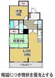 愛知県名古屋市千種区猫洞通2丁目の賃貸マンションの間取り
