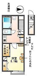 愛知県海部郡大治町大字三本木の賃貸アパートの間取り