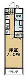 横浜市営地下鉄ブルーライン 仲町台駅 徒歩8分の賃貸アパート 1階1Kの間取り