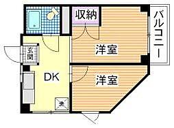 神奈川県横須賀市米が浜通2丁目の賃貸マンションの間取り