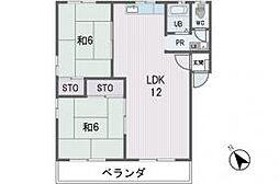 福岡県福岡市中央区平和5丁目の賃貸アパートの間取り