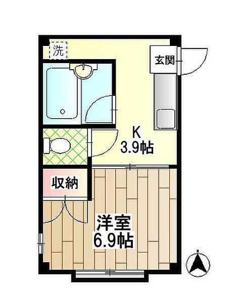 第二寿マンション[3階]の間取り