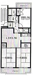 TOWAハイネス[2階]の間取り