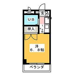 ユーハイムY・III[3階]の間取り