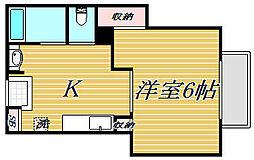 ハイコーポ澤田[1階]の間取り