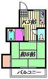 大泉コーポ[2-B号室]の間取り