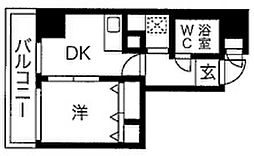 グランドムール南大江パークタワー[5階]の間取り
