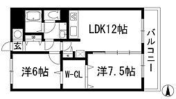ライズプレイス藤川[3階]の間取り