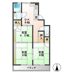 コーポラス早田[4階]の間取り