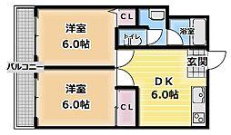 レジデンス東門真[5階]の間取り