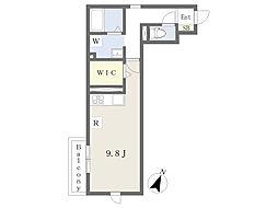 JR京浜東北・根岸線 大宮駅 徒歩10分の賃貸アパート 3階ワンルームの間取り