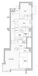 西早稲田クレセントマンション 4階3LDKの間取り