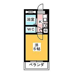 アーバンエコール島田[2階]の間取り