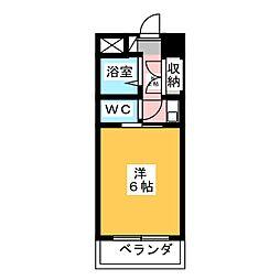 ドミール山田[3階]の間取り
