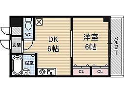 茨木ロイヤル[4階]の間取り