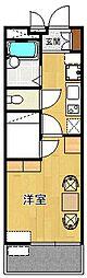 レオパレス甲子園[104号室]の間取り