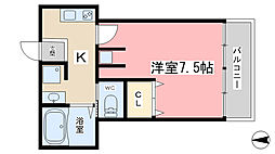 エモン山科[102号室]の間取り