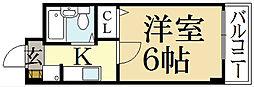 グレース紫竹[3階]の間取り