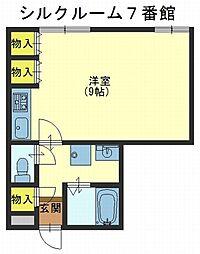 シルクルーム7番館[2階]の間取り