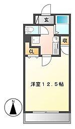 THUマンション[4階]の間取り