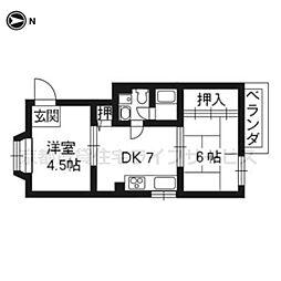 コーポ泉山[302号室]の間取り