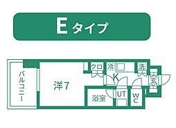 仙台市営南北線 北四番丁駅 徒歩11分の賃貸マンション 7階1Kの間取り