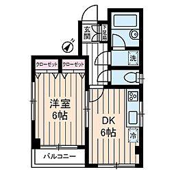 ジュンヴェール山本[2階]の間取り