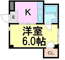 シティハウス昭和南[4階]の間取り