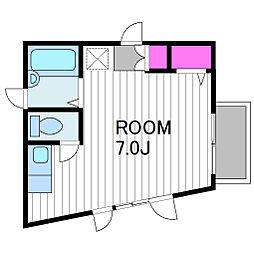 KGvirejji[21号室]の間取り