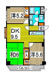 オークパレス[4階]の間取り