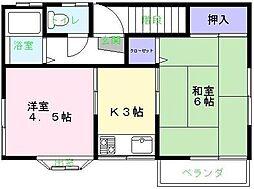スターハイム藤[2階]の間取り