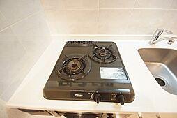 ベルファース蒲田の2口ガスコンロのキッチン